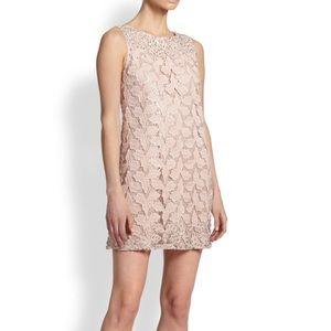 Alice + Olivia Embellished Shift Dress Pink 6 EUC